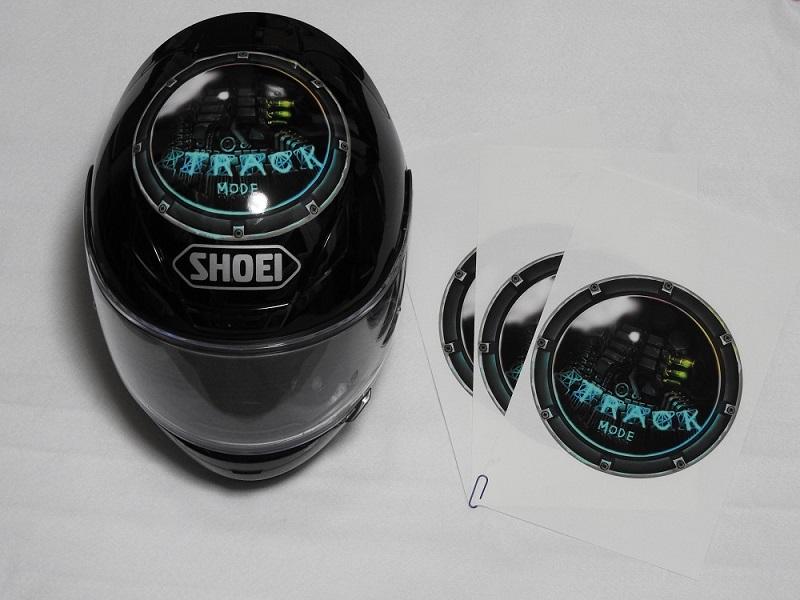 ヘルメット用のステッカー