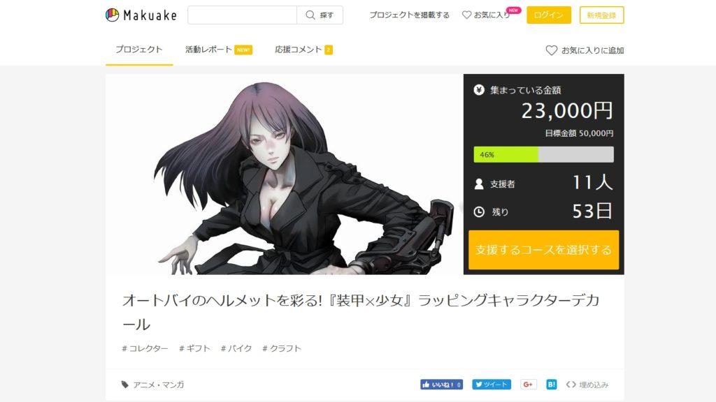 Makuakeのキャンペーンは順調に進んでます!